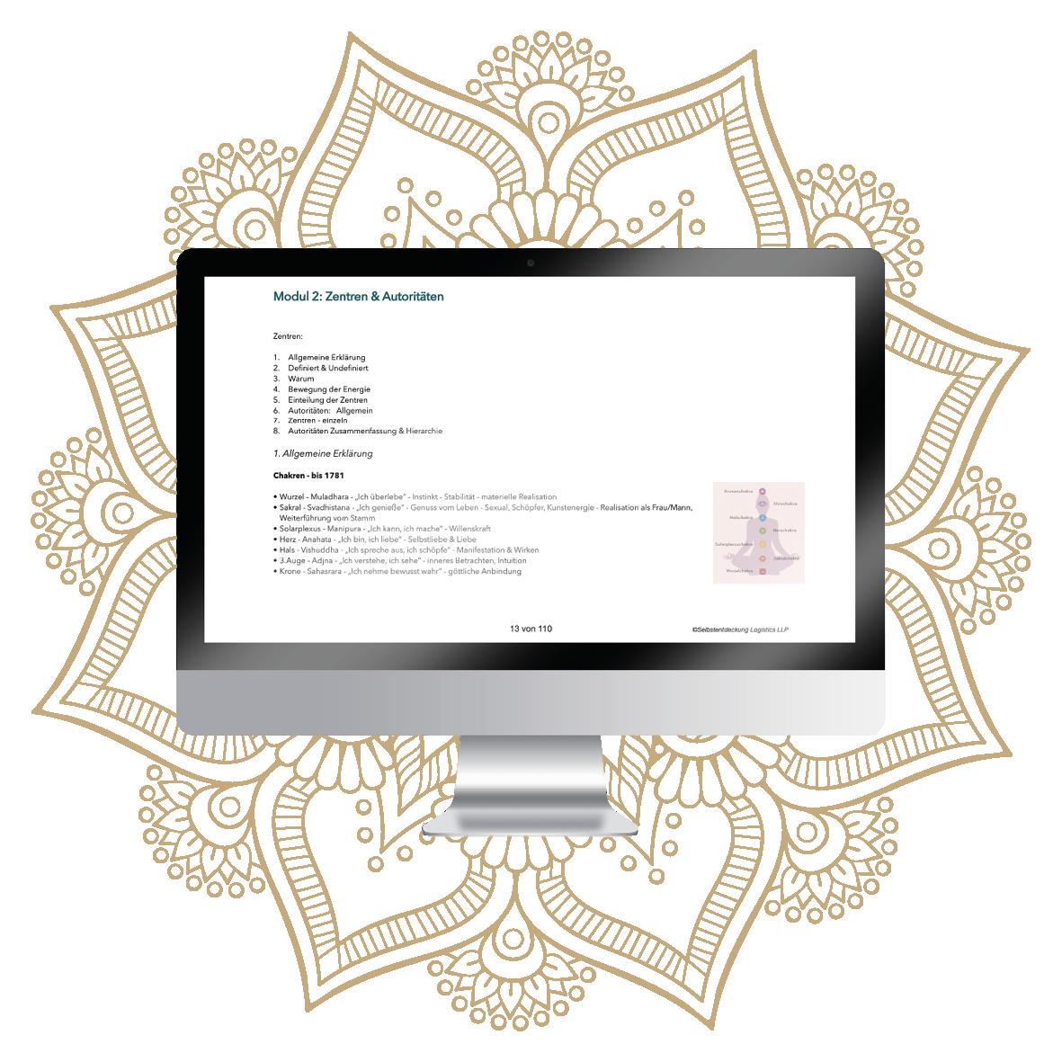 Selbstentdeckung Human Design Einstieg PDF-Einblick in den Kurs