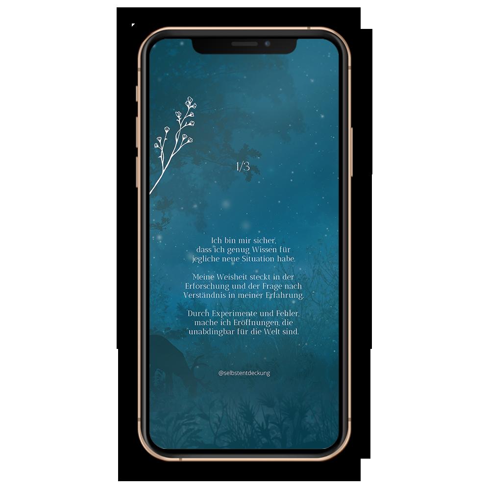 Download Human Design Profil 1/3 Hintergrund Mobil